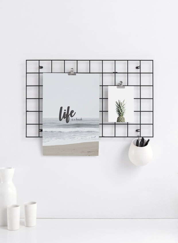 Minimalist art print by Opposite Wall with Life is a beach typography design on art photo - Kitchen