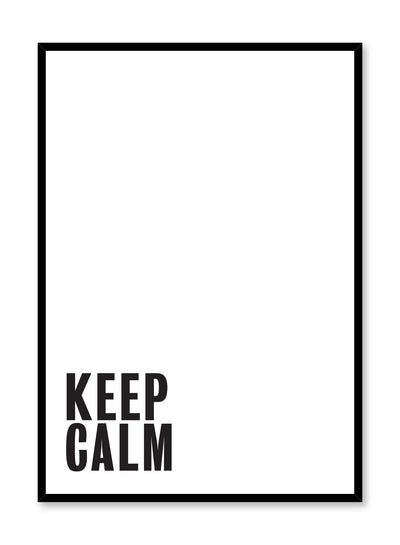 Scandinavian poster by Opposite Wall with Keep Calm typography design