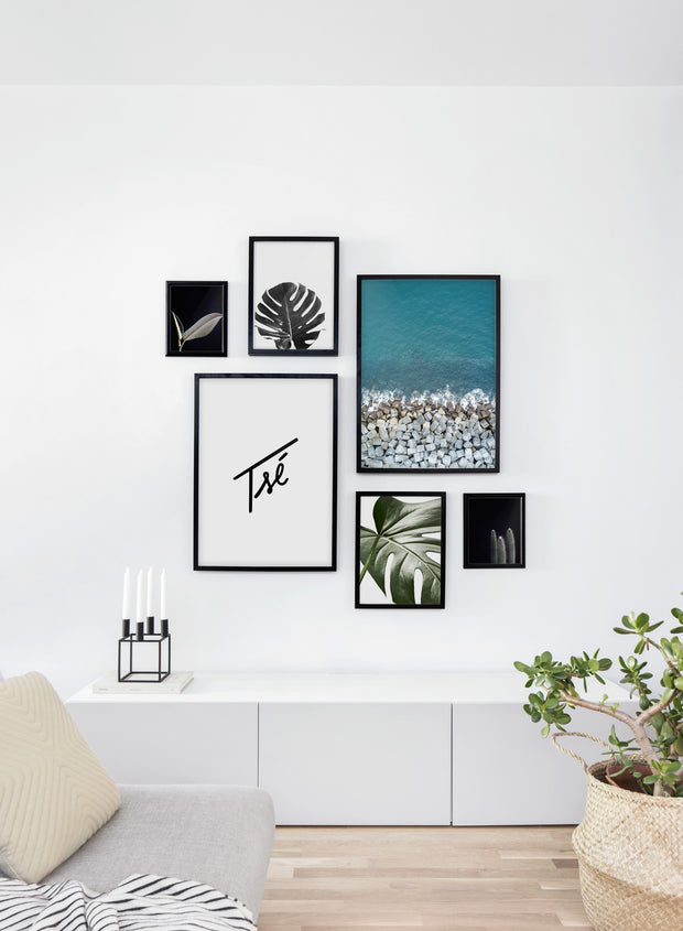 Scandinavian print by Opposite Wall with Stones art photo - Living room wall gallery