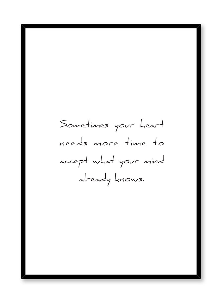 Scandinavian art print by Opposite Wall with inspirational Heart and Mind quote