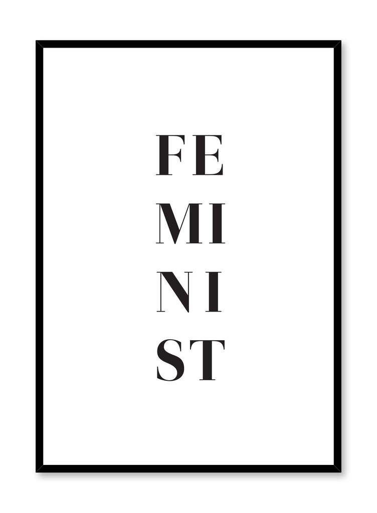 Minimalist poster by Opposite Wall with trendy Feminist graphic typography design