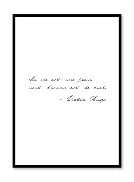 Scandinavian poster by Opposite Wall with Life is a Flower black and white typography design
