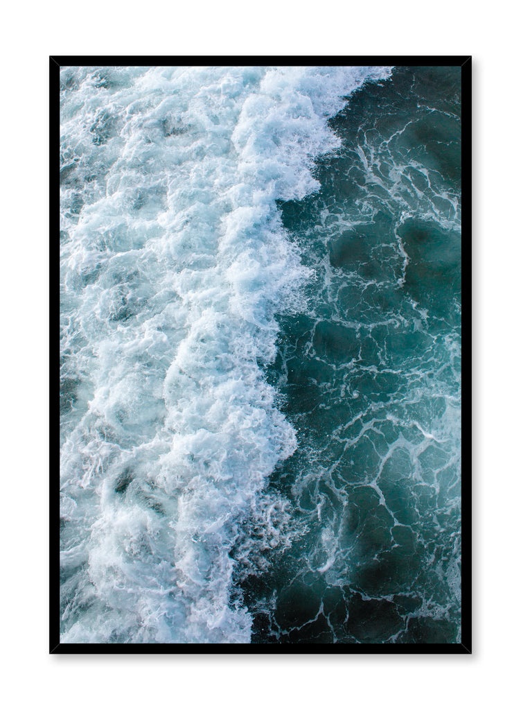 Modern minimalist poster by Opposite Wall with Emerald waters photography