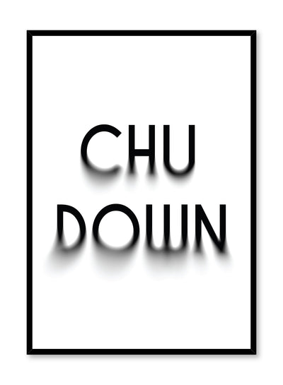 Minimalist graphic design poster by Opposite Wall with Chu Down typography