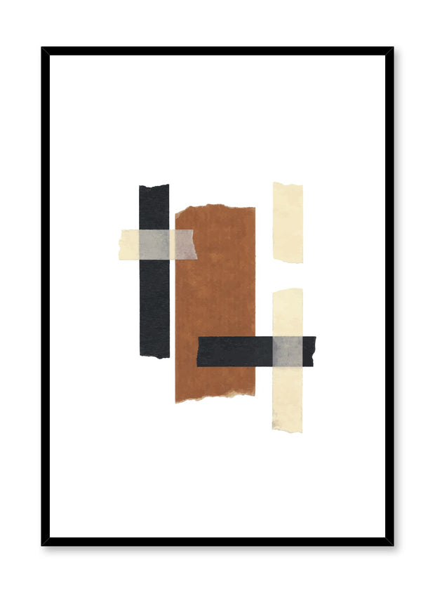 Modern minimalist poster by Opposite Wall with abstract Collage No.1