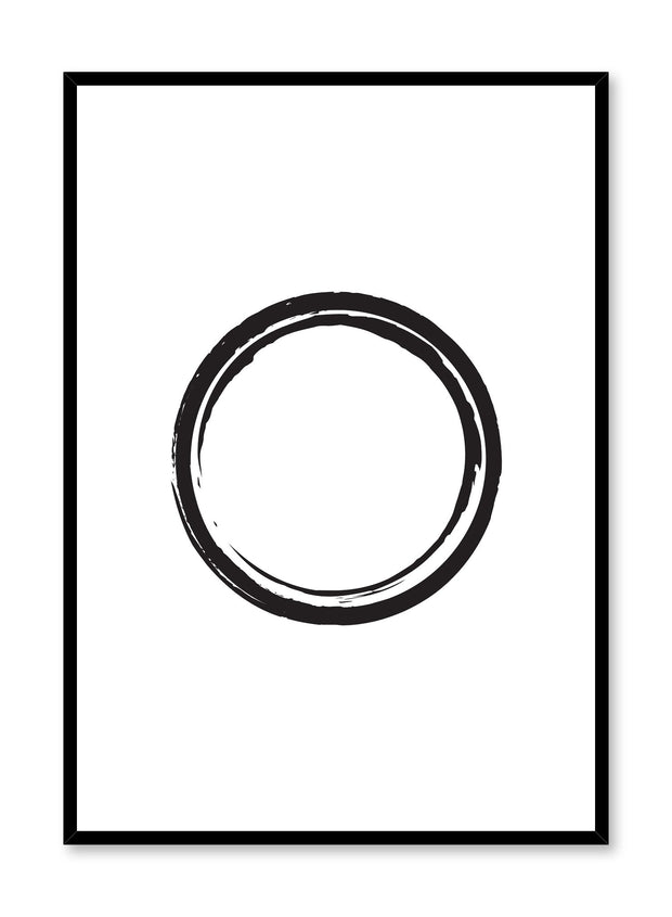 Modern minimalist poster by Opposite Wall with Black Circle abstract geometric design