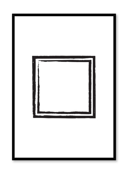 Modern minimalist poster by Opposite Wall with Black Square abstract geometric design