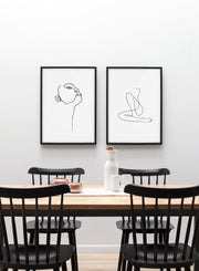 Modern minimalist poster by Opposite Wall with abstract illustration of Profile and Flow - dining room