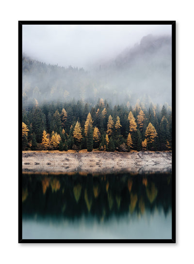 Scandinavian art print by Opposite Wall with trendy landscape art photo - Stunning reflections