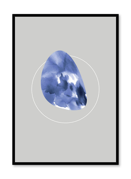 Modern minimalist poster by Opposite Wall with abstract illustration of Indigo