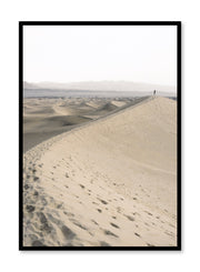 Scandinavian art print by Opposite Wall with trendy landscape art photo - Solitude in the Desert