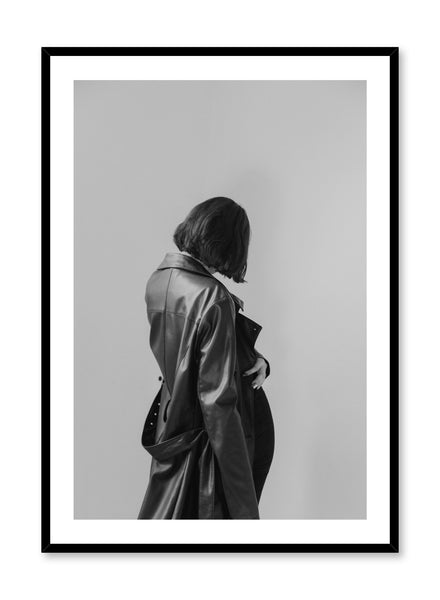 Modern minimalist poster by Opposite Wall with black and white fashion woman