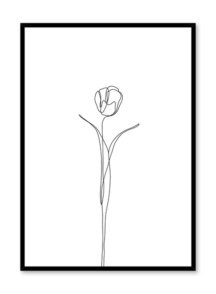 Modern minimalist poster by Opposite Wall with abstract illustration of Tulip