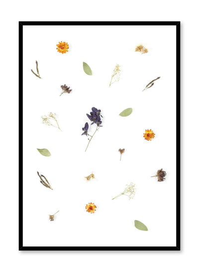 Scandinavian art photo print by Opposite Wall with multiple dried flowers