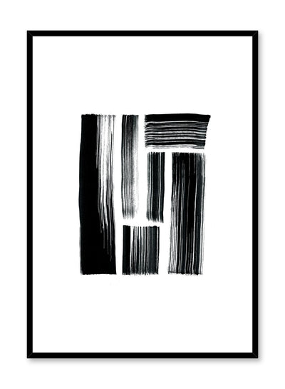 Modern minimalist poster by Opposite Wall with black brushstroke design