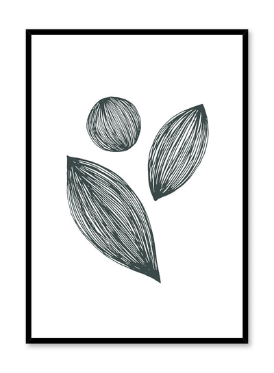 Scandinavian poster by Opposite Wall with hand-made art design with leafy shapes