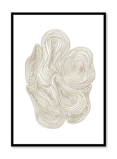 Scandinavian poster by Opposite Wall with hand-made art design with cluster of swirls design