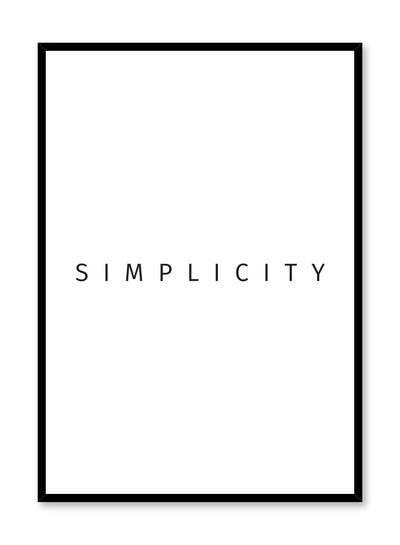 Modern minimalist art print by Opposite Wall with graphic simplicity design