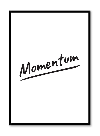 Momentum minimalist art print by Opposite Wall