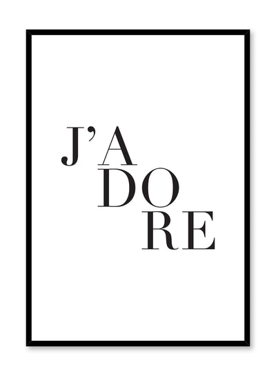 J'adore Scandinavian art print by Opposite Wall