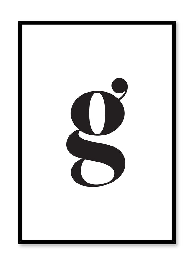 Letter G Scandinavian art print by Opposite Wall
