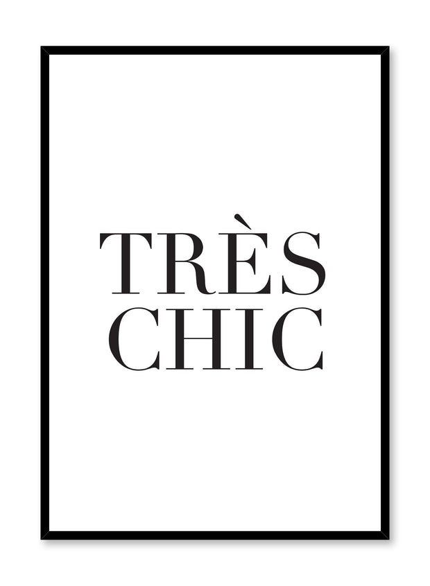 Très chic minimalist art print by Opposite Wall