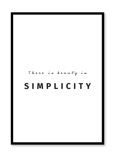 Beauty in simplicity typography art print by Opposite Wall