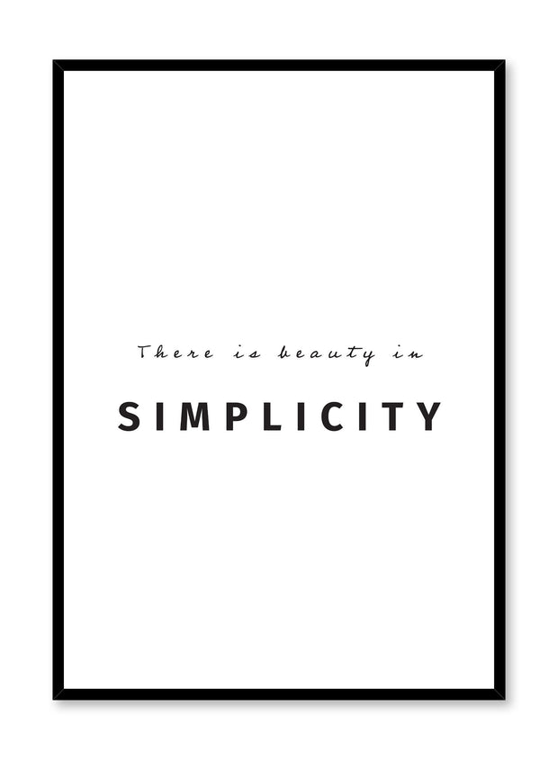 Beauty in simplicity art print by Opposite Wall