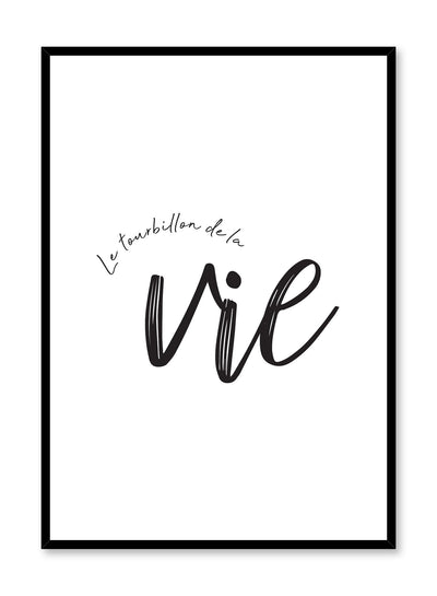 Le tourbillon de la vie minimalist art print by Opposite Wall