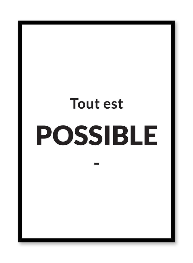Tout est possible minimalist art print by Opposite Wall