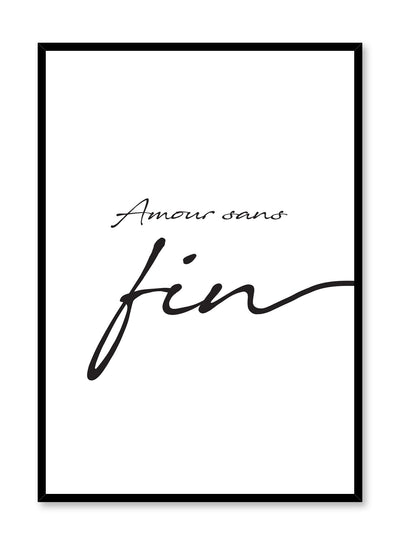 Amour sans fin minimalist art print by Opposite Wall