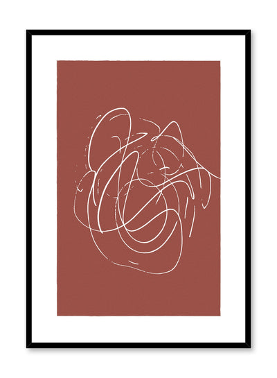 Scandinavian poster by Opposite Wall with hand-made art design with rust swirls