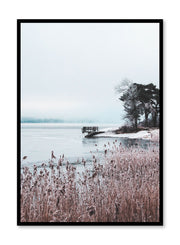 Minimalist design poster by Opposite Wall with winter scene photography