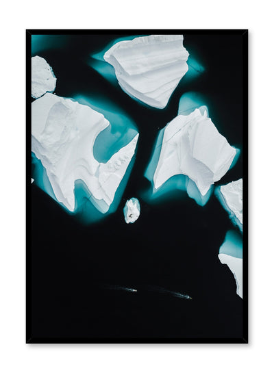 Modern minimalist poster by Opposite Wall with iceberg photography