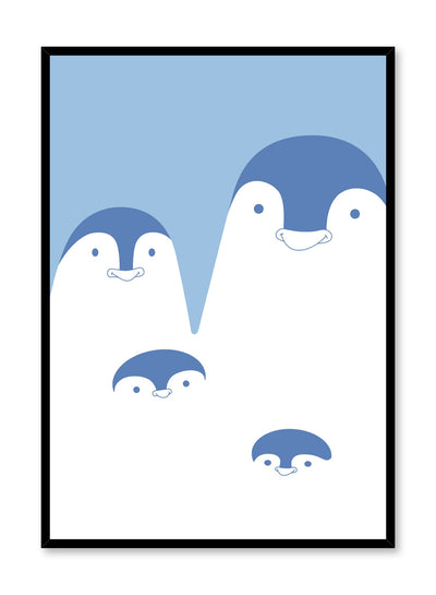 Modern minimalist poster by Opposite Wall with kids illustration of penguins