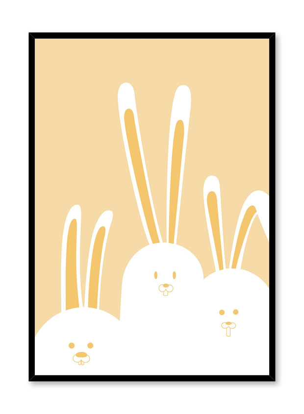 Modern minimalist poster by Opposite Wall with kids illustration of bunnies