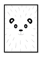 Modern minimalist poster by Opposite Wall with kids illustration of a panda
