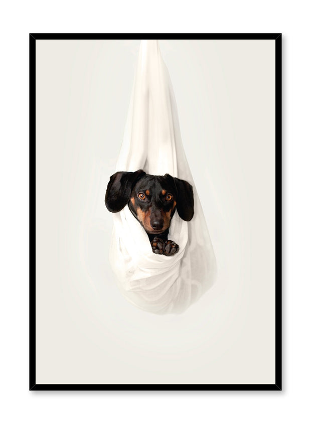 Modern minimalist photo print of a dog by Opposite Wall