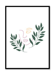 Modern minimalist poster by Opposite Wall with Extend an olive branch design
