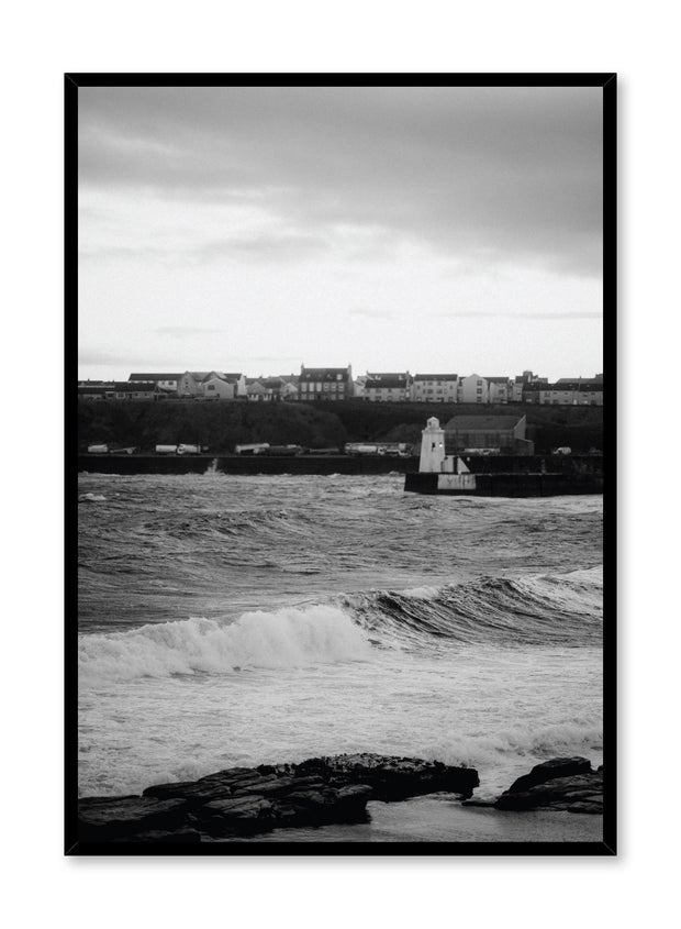 Minimalist design poster by Opposite Wall with Seaside Town photography