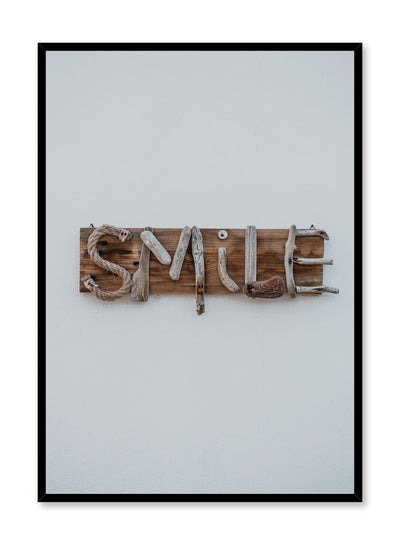 Minimalist design poster by Opposite Wall with Smile Typography