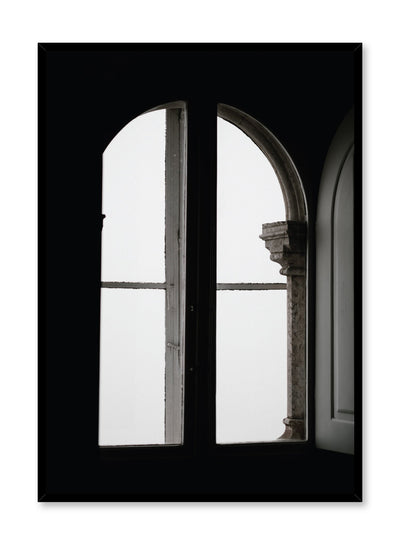 Minimalist design poster by Opposite Wall with Black and White Window photography