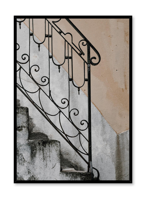 Minimalist design poster by Opposite Wall with old stairway photography