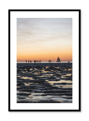 Minimalist design poster by Opposite Wall with sunset photography