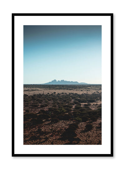 Minimalist design poster by Opposite Wall with mountain landscape photography
