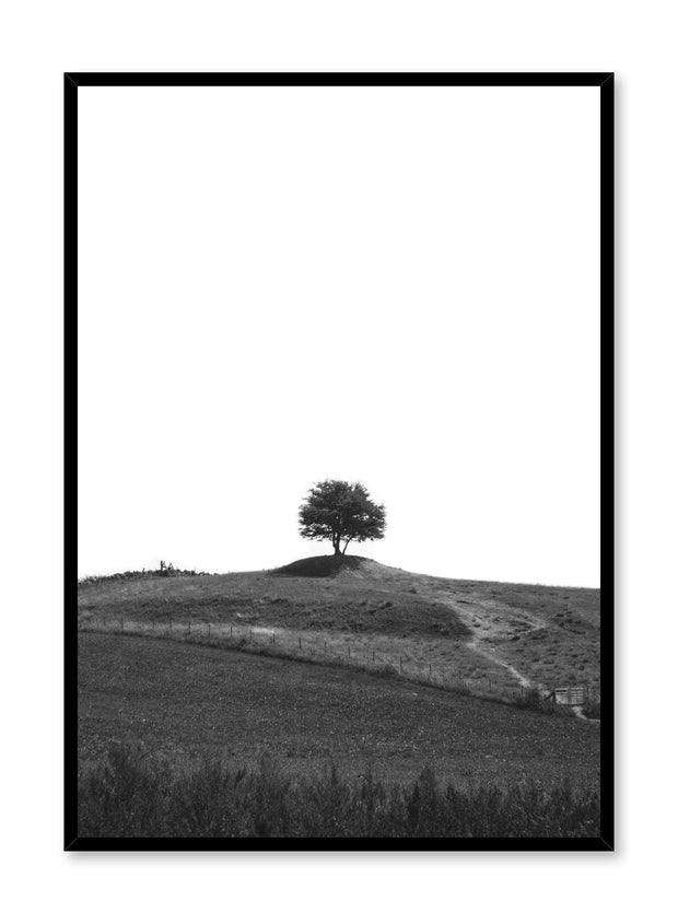 Minimalist design poster by Opposite Wall with Lone Tree photography