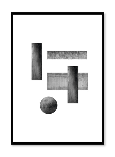Minimalist design poster by Opposite Wall with abstract rectangle figures