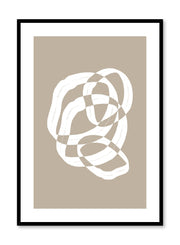 Minimalist design poster by Opposite Wall with abstract beige checkered circles