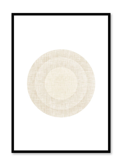 Minimalist design poster by Opposite Wall with abstract beige circles