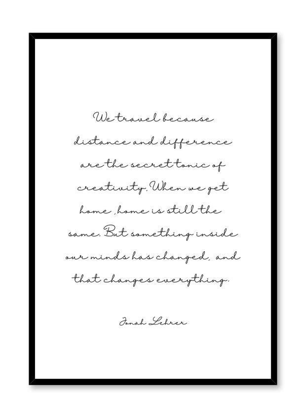 Travel quote modern minimalist typography art print by Opposite Wall